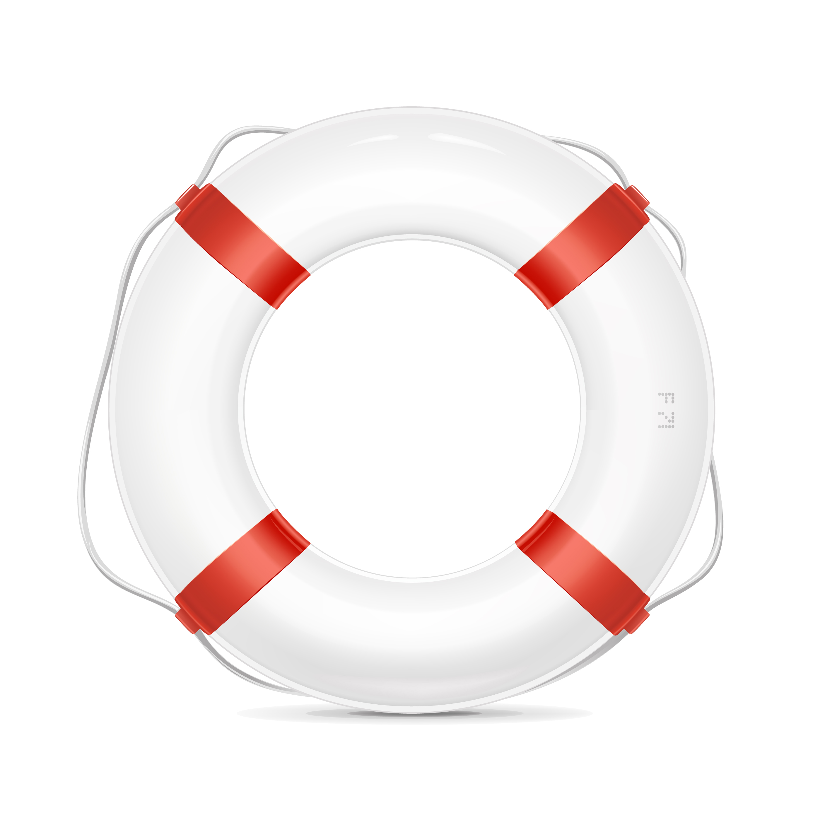 Vector illustration of a lifebuoy